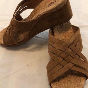 Ugg suede wedge sandals